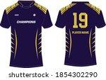 sports t shirt jersey design... | Shutterstock .eps vector #1854302290