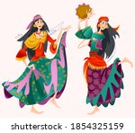 Romany Dance. Two Roma Gypsy...