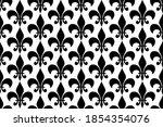 royal heraldic lilies seamless... | Shutterstock .eps vector #1854354076