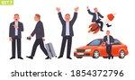businessman character set. man... | Shutterstock .eps vector #1854372796