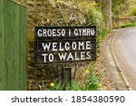 Bilingual Welcome To Wales Sign ...