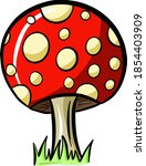 fun cartoon mushroom toadstool... | Shutterstock .eps vector #1854403909