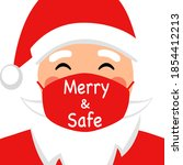 santa claus wearing red medical ... | Shutterstock .eps vector #1854412213
