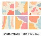 hand drawn creative set of six... | Shutterstock .eps vector #1854422563