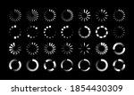 round progress bars. countdown... | Shutterstock .eps vector #1854430309