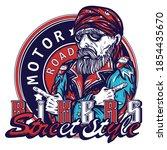 bikers  street style slogan.... | Shutterstock .eps vector #1854435670