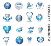 dental implants symbol... | Shutterstock .eps vector #185446658