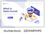 landing page template with...   Shutterstock .eps vector #1854489490