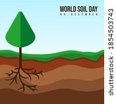 world soil day with layer of...   Shutterstock .eps vector #1854503743
