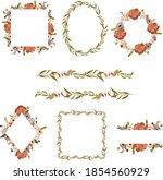 floral polygonal frame clipart  ...   Shutterstock .eps vector #1854560929