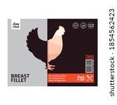 vector chicken meat packaging... | Shutterstock .eps vector #1854562423