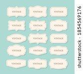 vintage frames set  clipart... | Shutterstock .eps vector #1854569176