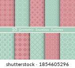 set of seamless line patterns.... | Shutterstock .eps vector #1854605296