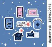 bundle of new norm letterings... | Shutterstock .eps vector #1854610996