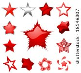 set of star graphics | Shutterstock .eps vector #18546307