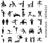 set of people icons | Shutterstock .eps vector #18546313