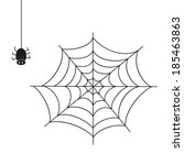 spider. illustration on white... | Shutterstock .eps vector #185463863