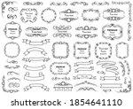 calligraphic design elements .... | Shutterstock .eps vector #1854641110