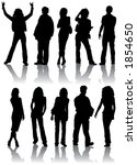 silhouettes man and women ... | Shutterstock . vector #1854650