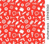 seamless pattern with tools ... | Shutterstock .eps vector #185465060