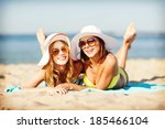 summer holidays and vacation  ... | Shutterstock . vector #185466104