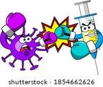 virus and syringe cartoon... | Shutterstock .eps vector #1854662626