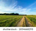 Path Between Tow Grass Fields ...