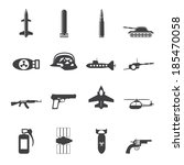 silhouette simple weapon  arms... | Shutterstock .eps vector #185470058
