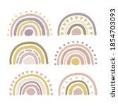 hand drawn boho nursery rainbow ... | Shutterstock .eps vector #1854703093