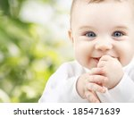 child  happiness and people... | Shutterstock . vector #185471639