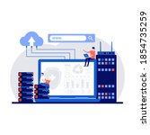 web hosting concept with... | Shutterstock .eps vector #1854735259