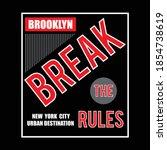 break the rules design... | Shutterstock .eps vector #1854738619