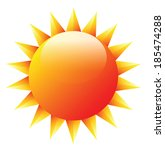 sun sign icon vector  summer... | Shutterstock .eps vector #185474288