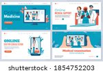 landing page templates with...   Shutterstock .eps vector #1854752203