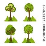 ecology design over white... | Shutterstock .eps vector #185475449