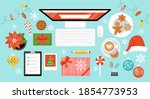 christmas and new year holiday... | Shutterstock .eps vector #1854773953