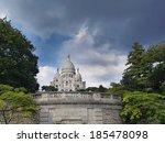 Sacre-Coeur Basilica on Montmartre, Paris, France - stock photo