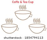 coffee and tea cup coffee cup... | Shutterstock .eps vector #1854794113
