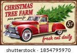 Vintage Farm Metal Sign With...