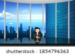 glass table in the news studio... | Shutterstock .eps vector #1854796363