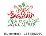 season's greetings. merry...   Shutterstock .eps vector #1854802090