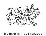 merry christmas vector...   Shutterstock .eps vector #1854802093