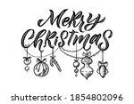 merry christmas vector...   Shutterstock .eps vector #1854802096