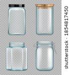 transparent jar. empty glass...   Shutterstock .eps vector #1854817450