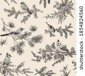 vintage vector seamless pattern.... | Shutterstock .eps vector #1854824560