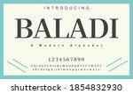 baladi font. elegant alphabet... | Shutterstock .eps vector #1854832930