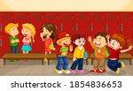 children talking with their...   Shutterstock .eps vector #1854836653