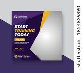 gym fitness social media post... | Shutterstock .eps vector #1854836890