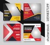 gym   fitness instagram story... | Shutterstock .eps vector #1854837199