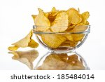 Wavy Chips In A Bowl